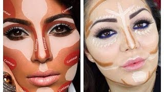 Contouring and Highlighting like Kim Kardashian - Makeup Secret!