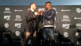 Ufc 220 Miocic Vs Ngannou Media Day Staredowns