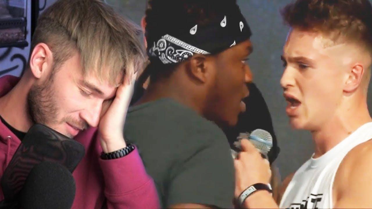 KSI & Joe Weller FIGHT on STAGE! PewDiePie Says N-WORD on ...
