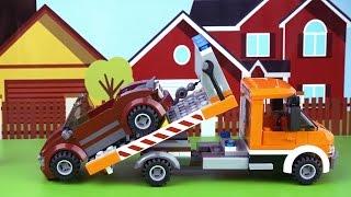 Мультик Лего  Эвакуатор и кабриолет. Набор Lego Cyti 60017 для детей.  Lego City Flatbed Truck(Лего Сити Эвакуатор (Lego City Flatbed Truck) 60017 Сломалась машина? Дорожный эвакуатор поможет отвезти ее в ближайший..., 2014-12-03T11:30:26.000Z)