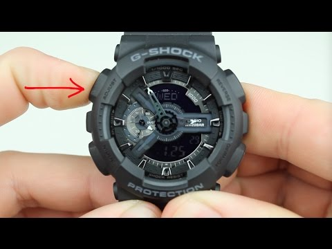 How To Change The Time On A G-Shock