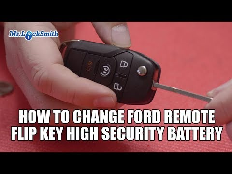 How to Change Ford Remote Flip Key High Security Battery | Mr. Locksmith Video