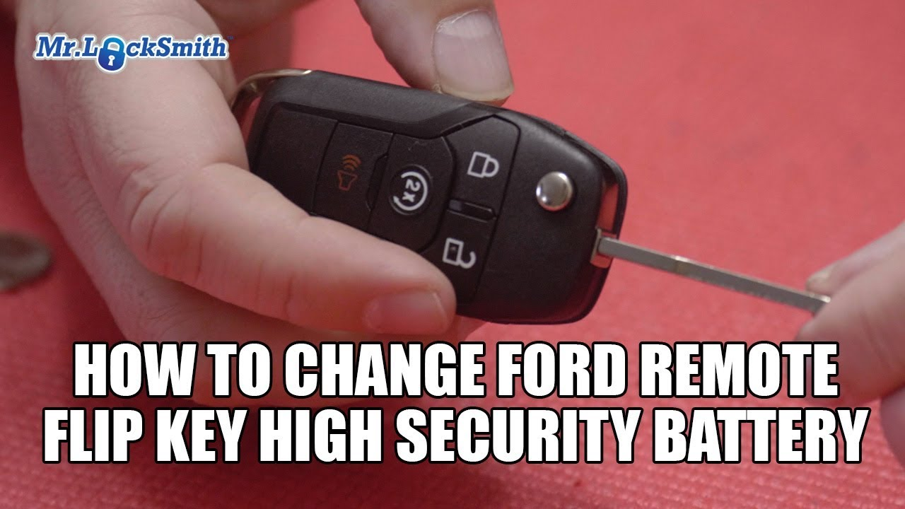 How To Change Ford Remote Flip Key High Security Battery Mr Build Electronic Door Locksmith Video