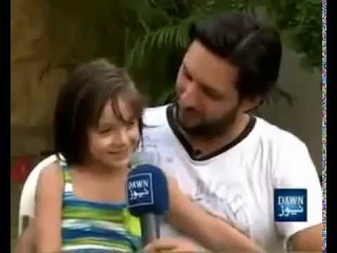Shahid Afridi Interview with  3 kids