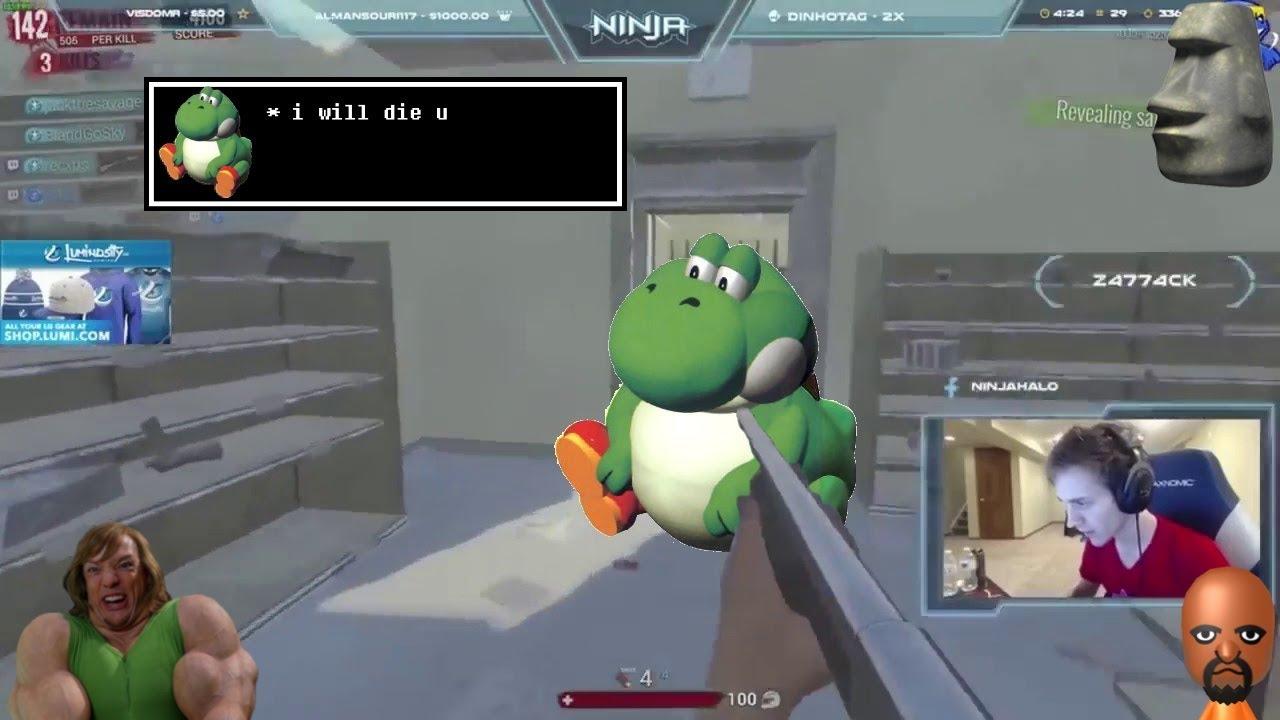 Yoshi's Island Meme but it's Ninja raging - YouTube