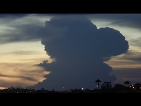 Cumulonimbus clouds visible from Campina Grande, Paraíba ...