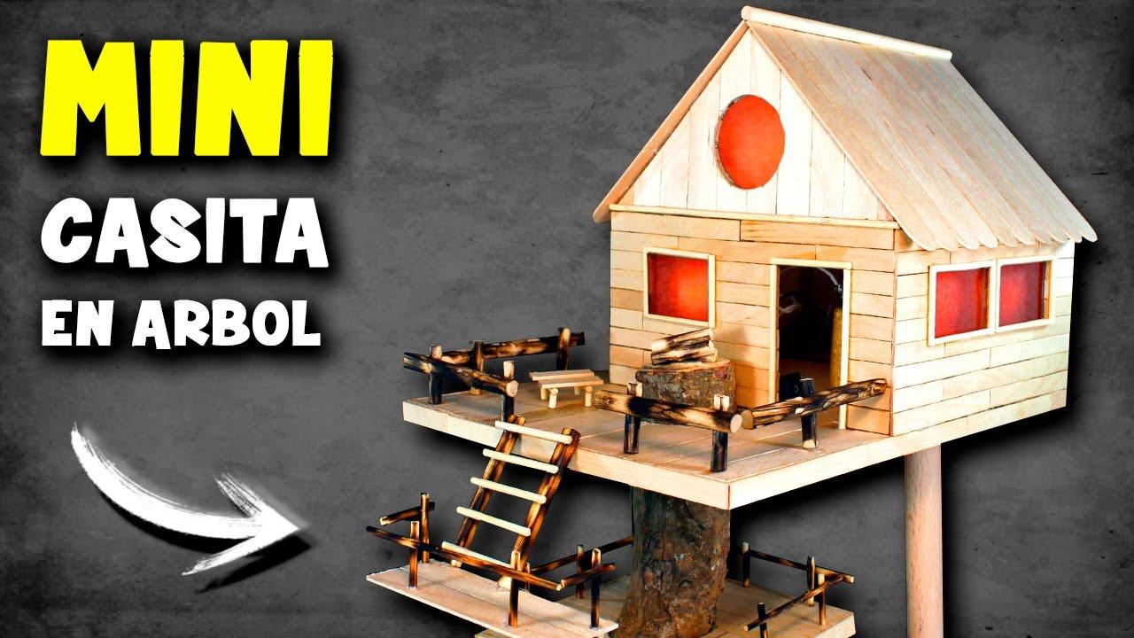 Mini casita en rbol c mo hacer una casita de madera - Como hacer una maqueta de una casa ...