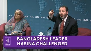 Video Bangladesh PM refuses to answer questions on human rights record download MP3, 3GP, MP4, WEBM, AVI, FLV April 2018