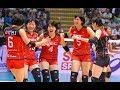 (1 SET) NEC RED ROCKETS vs. OKAYAMA SEAGULLS (EMPRESS CUP 2017 QUATER FINALS)