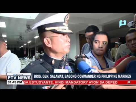 Brig. Gen. Salamat, bagong Commander ng Philippine Marines