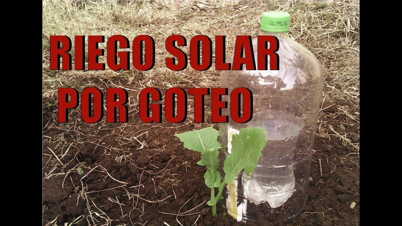 Riego por goteo solar t cnica kondenskompressor youtube - Tubo riego por goteo ...