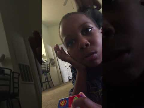 King B doing bean boozed challenge 4 years old