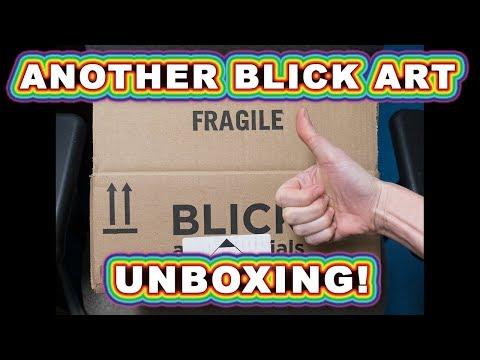 Another Blick Art Materials (Dick Blick) Art Supply Haul & Unboxing