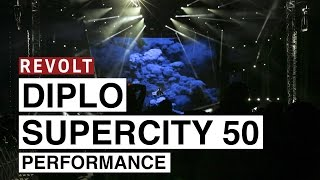 Diplo Performs At Super City 50