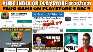 ABP NEWS🔥 PUBG MOBILE INDIA ON PLAYSTORE 2021 !! FAUG GAME RELEASE ON 4 DEC ?? PUBG TRAILER DATE