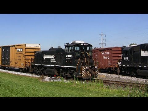 Three Local NS Trains + Industry Switching Action!