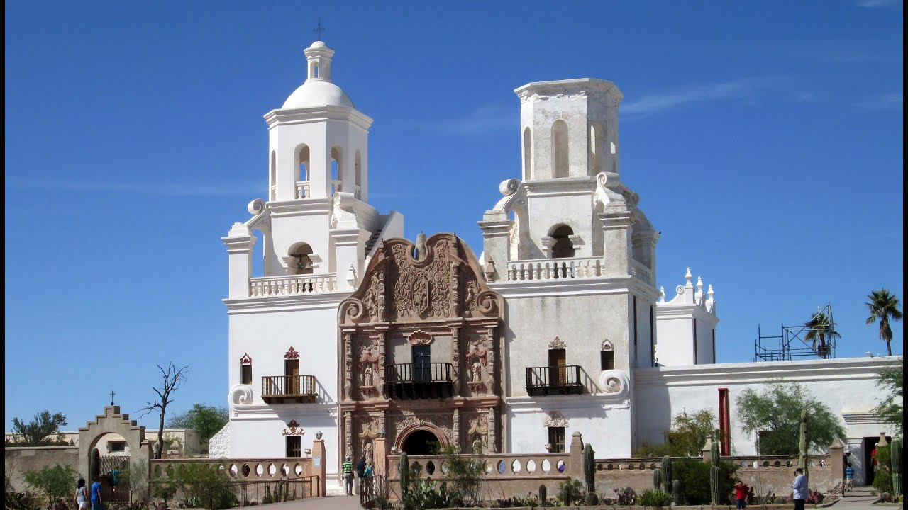Mission San Xavier del Bac, Tucson, Arizona - YouTube