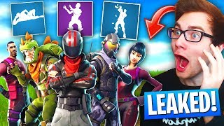 NUEVOS *LEAKED* Skins, Dances, & Pickaxes In Fortnite: Battle Royale! (Nueva actualización)