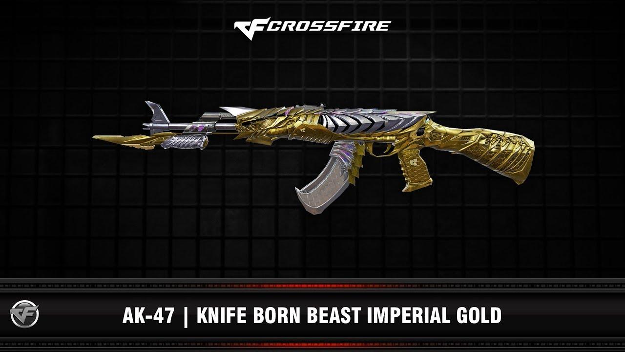 CF : AK-47 | Knife Born Beast Imperial Gold