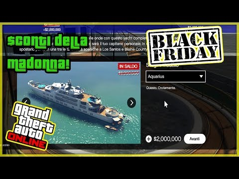 TUTTI GLI SCONTI (50-75%) DEL BLACK FRIDAY SU GTA 5 ONLINE ! (GTA 5 ITA Black Friday 2017)