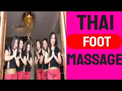 Thai Foot Massage Reflexology in Pattaya, Thailand Part 5