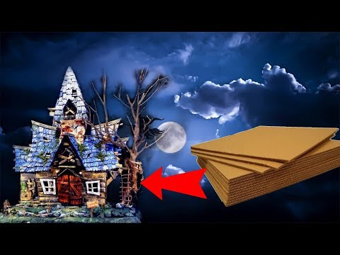 Witch House Using Cardboard-Haunted House ll VIVA Creations