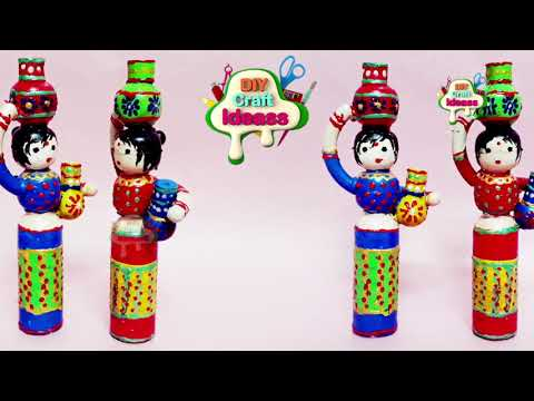 Best out of waste bottle | Cute doll with pots | DIY Home Decor | diy craft ideas