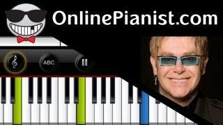 Elton John - Your Song - Piano Tutorial