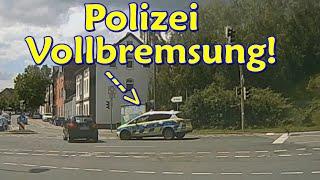 Vom heftiger Polizei-Vollbremsung, gestörtem Überholen und Close-Calls   DDG Dashcam Germany   #268