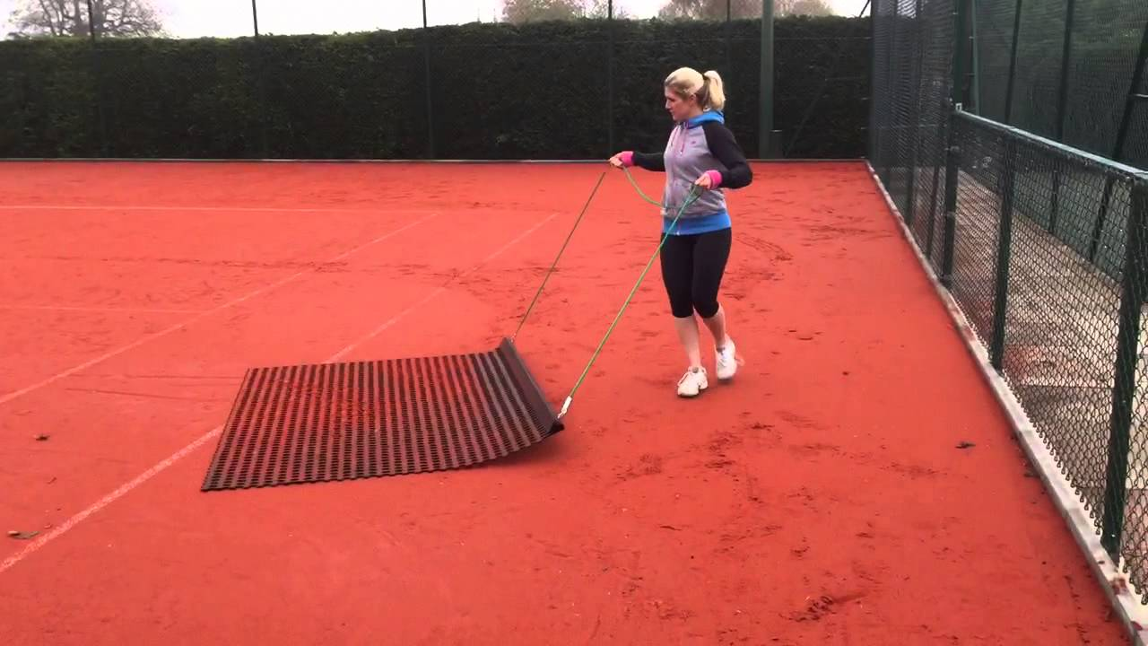 Brushing An Artificial Clay Court Youtube