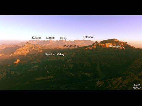 panaromic view of Kalsubai range - Aajoba Trek |  Trekking in Sahyadris | Part 25