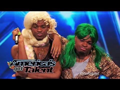 Hudson Brothers: Howie Mandel Uses Golden Buzzer on HipHop Humor Act  Americas Got Talent 2014