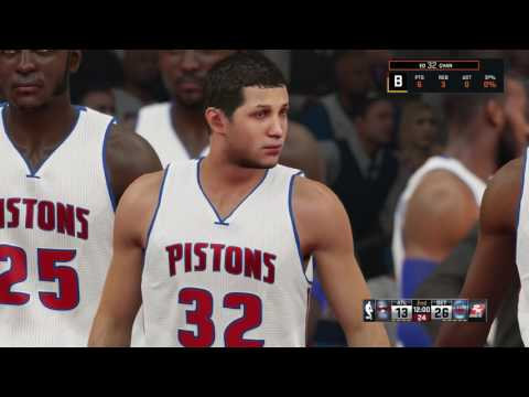 NBA 2K15 PS4 Detroit Pistons vs Atlanta Hawks Season 2020-2021
