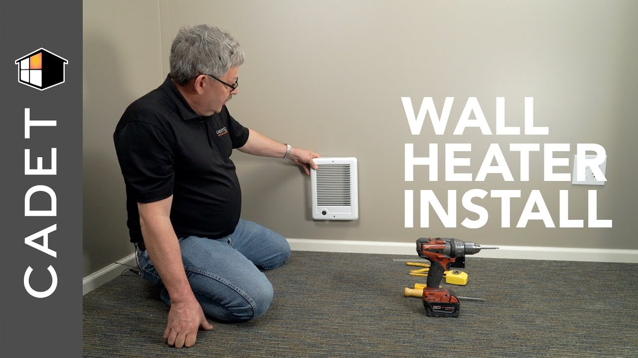 How to install wall heater with builtin thermostat