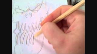 Drawing Art Video Drawing A Demonic Skull