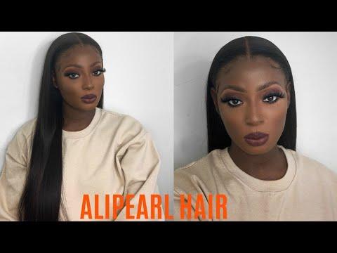 WATCH ME MELT THIS LACE!   ALIPEARL HAIR   STRAIGHT LONG BLACK HAIR