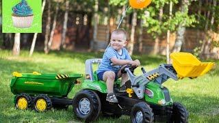 День рождения Андрюши. 2 годика. Фотоотчет. Трактор большой Rolly Toys