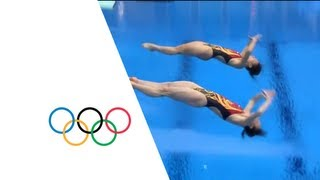 Wu & He Win Syncronised 3m Springboard Diving Gold - London 2012 Olympics