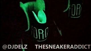 nike air force 180 high glow in the dark sneaker review with djdelz on feet