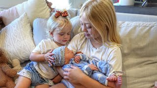 Everleigh And Posie Meet Their Baby Brother For The First Time!!! (CUTEST REACTIONS EVER)