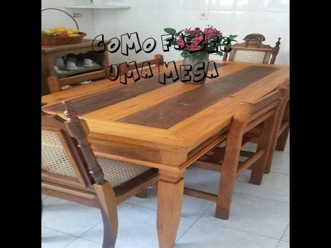 Como fazer uma mesa com gaveta de madeira de demolio