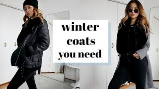 3 WINTER COATS YOU NEED + how to style them | rachspeed