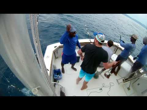 Deep Sea Fishing - Monetgo Bay Jamaica - Father & Son Catch