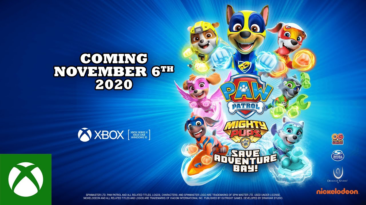 Download PAW Patrol Mighty Pups Save Adventure Bay | Announce Trailer