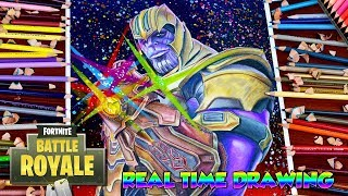 How to Draw Fortnite Battle Royale Thanos - Infinity War Gauntlet Step By Step Tutorial フォートナイト