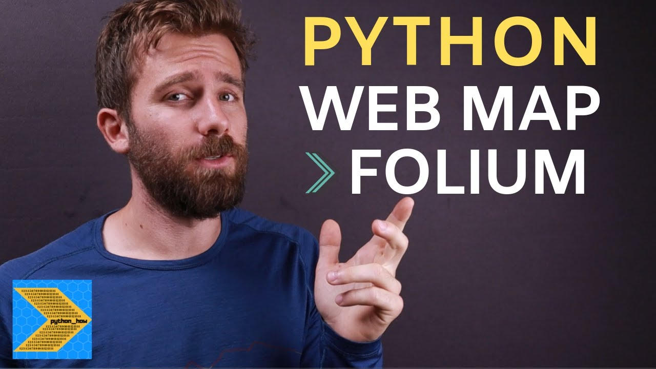 Python tutorial on making a multilayer Leaflet web map with Folium