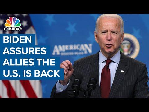Biden assures allies the U.S. is back