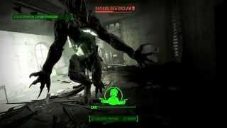 Fallout 4 SCARIEST DEATHCLAW ENCOUNTER. MUSEUM OF WITCHCRAFT