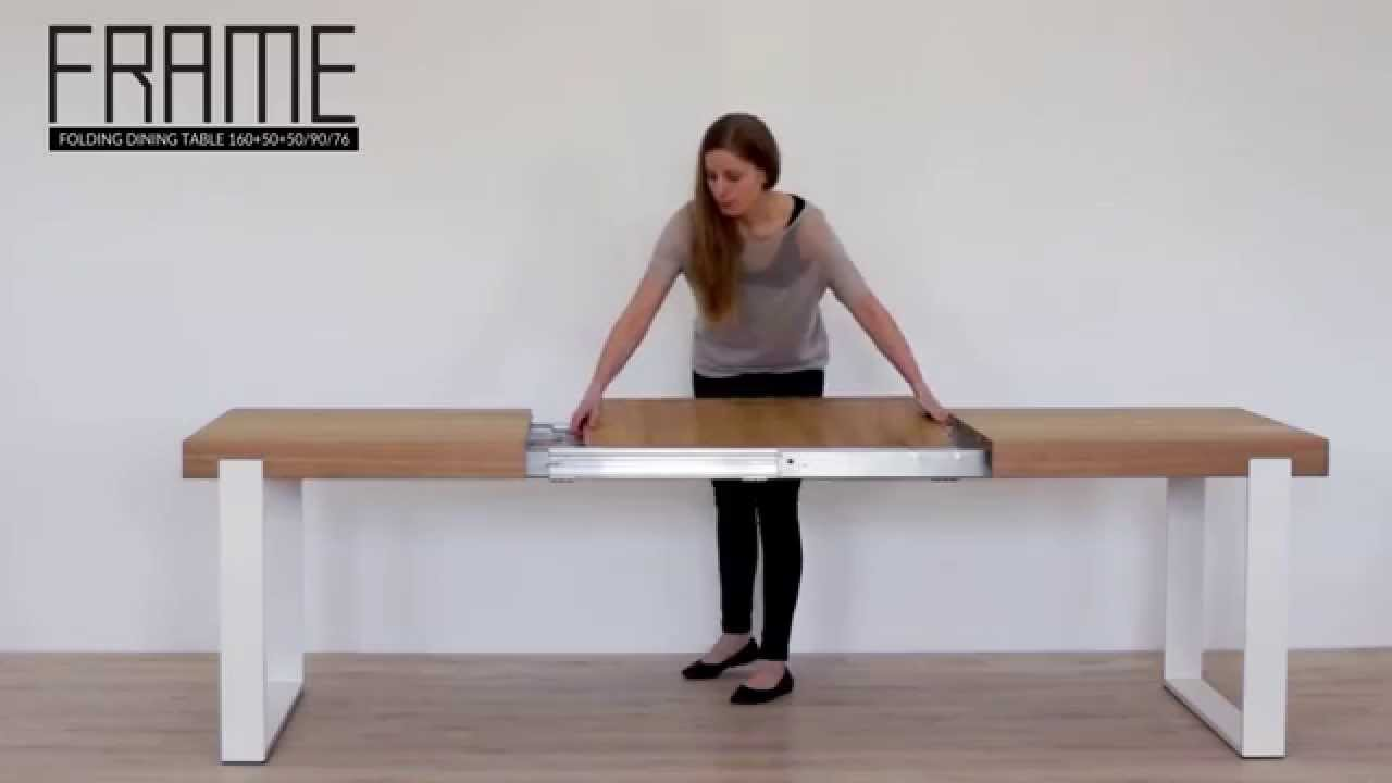 Frame folding dining table from miloni youtube jeuxipadfo Choice Image