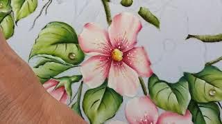 Passarinhos com Flores do Campo – Parte 3  Pintura em Tecido